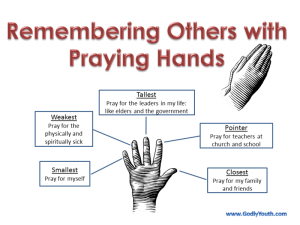 How I was taught to remember others when praying.