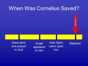 The Conversion of Cornelius and the Command to be Baptized
