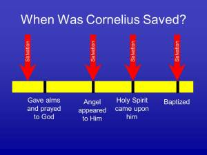 When was Cornelius saved