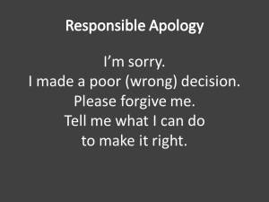 Real apology