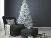 Christmas living room with a christmas tree. 3d rendering